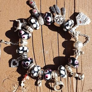 Authentic Pandora bracelet with 20 charms